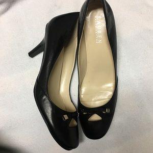 Lauren by Ralph Lauren black leather heels